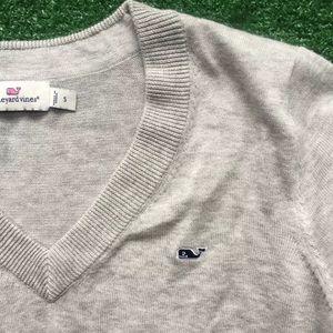 Men's Sz small gray vineyard vines cotton sweater